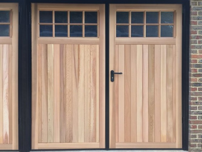 Side Hinged Timber Garage Door Hastings